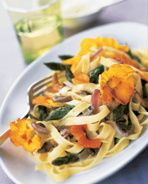 fettuccine-with-asparagus-wild-mushrooms